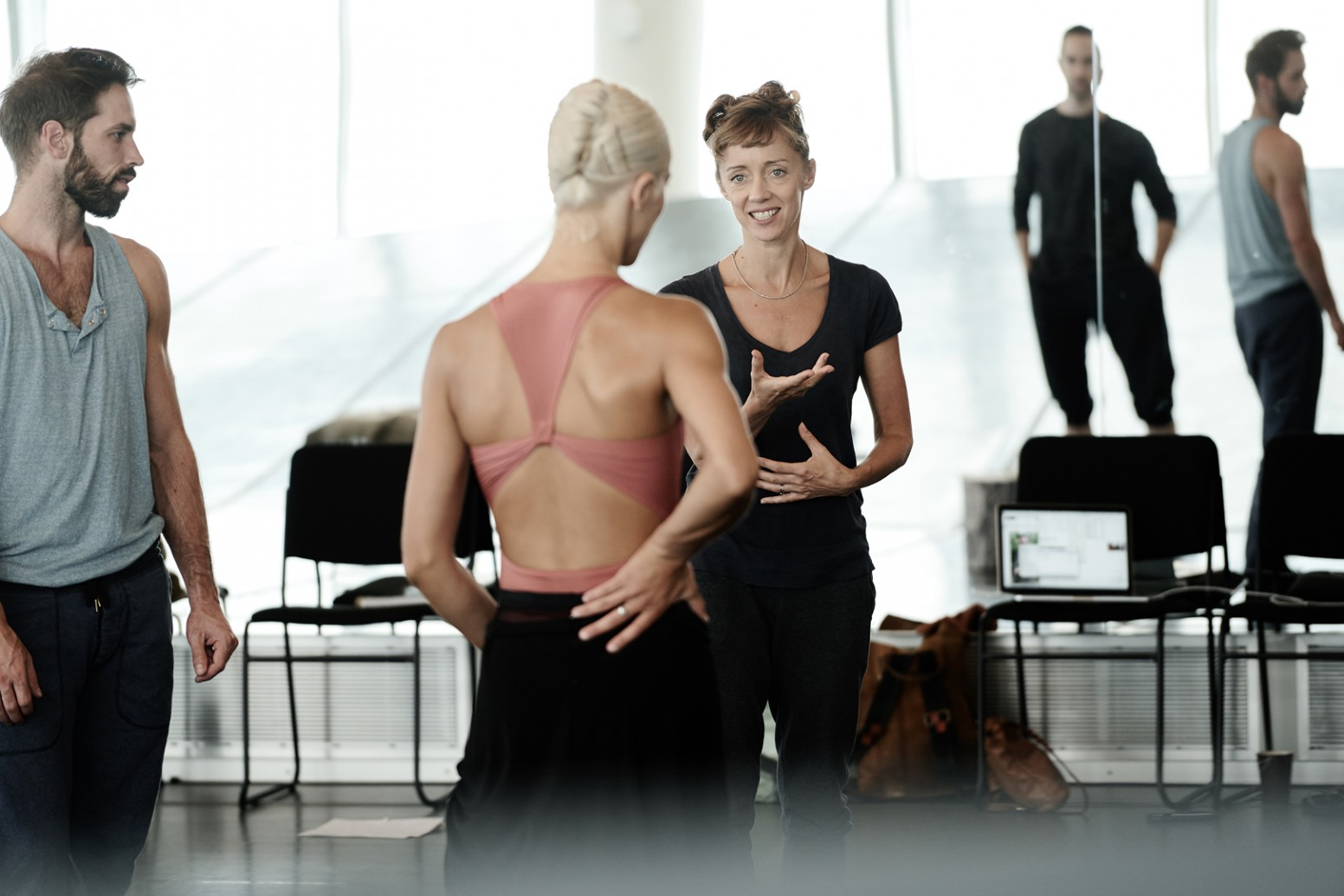 Cathy Marston working with dancers